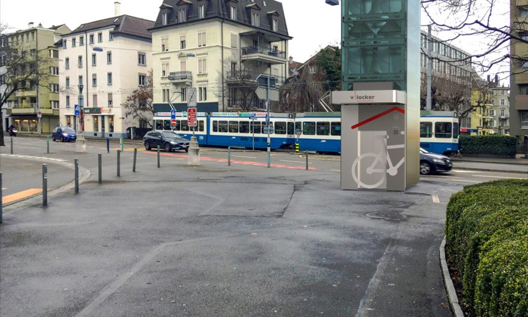 Fahrradturm Velos parkieren Innenstadt