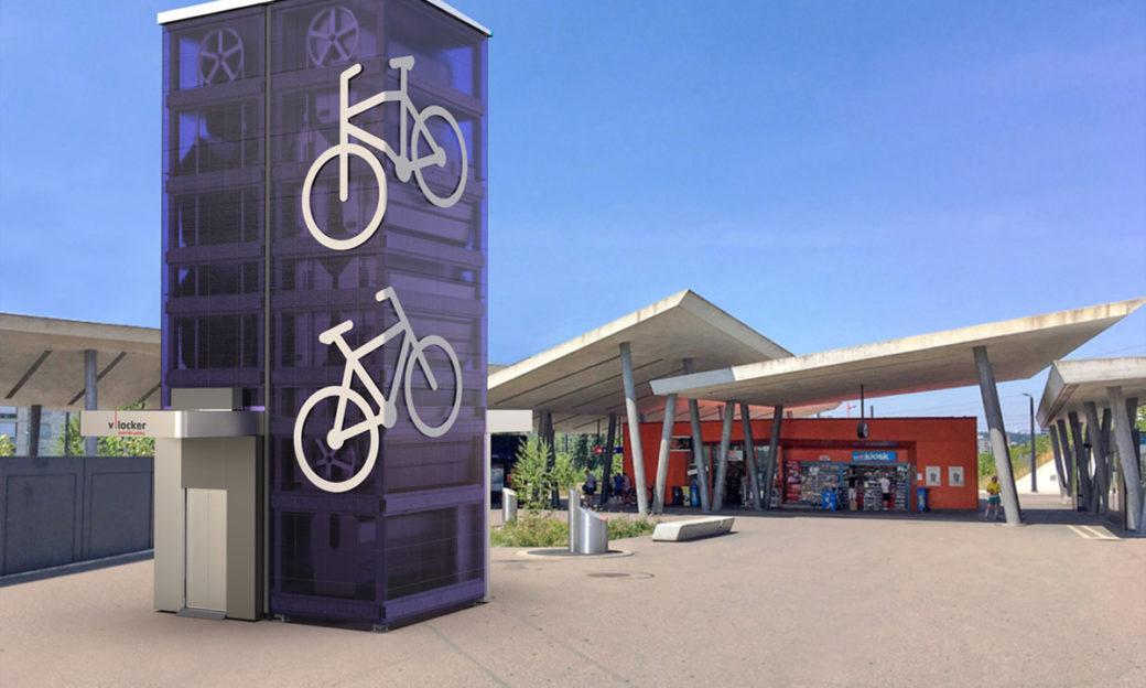 Flexibler Trum für das parkieren von Fahrrädern