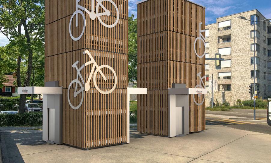 Intelegenties Fahrrad Parkiersystem Wohnsiedlung
